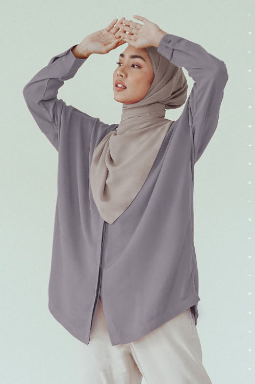 AIILY TOP IN GREY