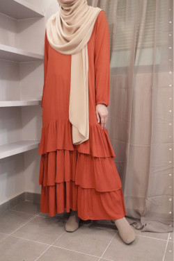 BIIBI Dress in Burnt Orange