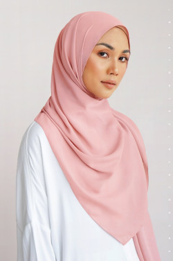 Burj Basic Shawl In Coral Pink