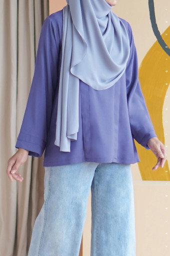 Damai Blouse In Twillight Purple