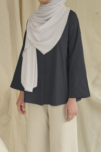 Peony Top In Charcoal
