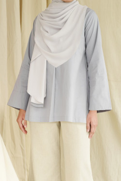 Peony Top In Grey