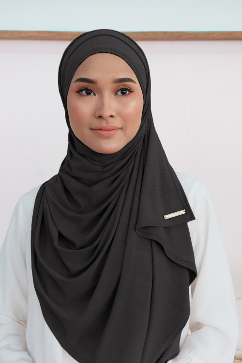 Ironless: Air Scarf In Black