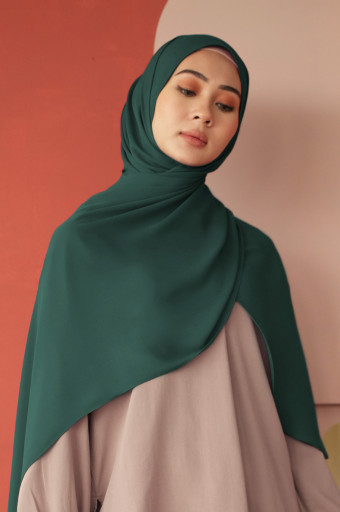 Burj Basic Shawl  in Bistro Green