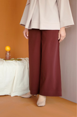 Cora Pants In Oxblood Red