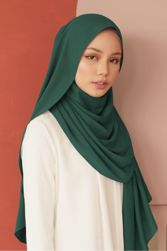 Daniah Shawl (Plain) In E.Green