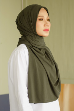 IRONLESS: Jasmine Adult Hijab In Army Green