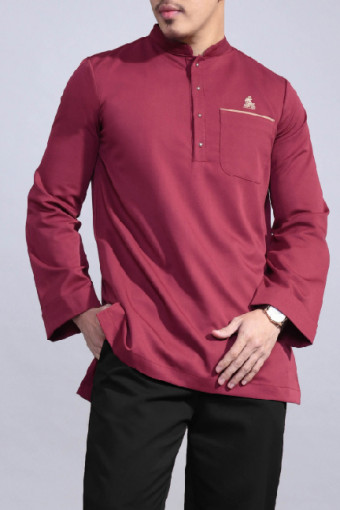 Kurta Bend In Maroon