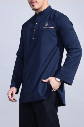 Kurta Bend In Navy Blue