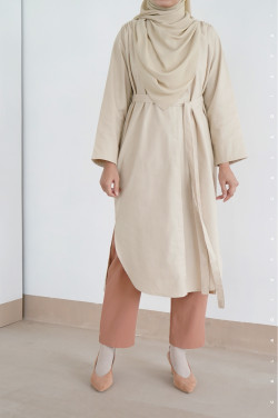 Laana Midi Dress in Bleach Sand