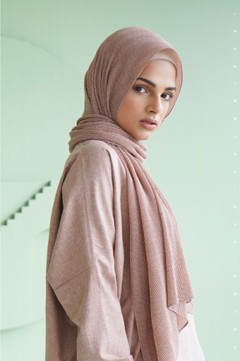 The Monogram Pleated Scarf In Rose Cloud