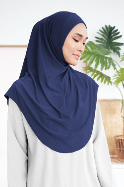 Ironless Safa Instant In Navy Blue