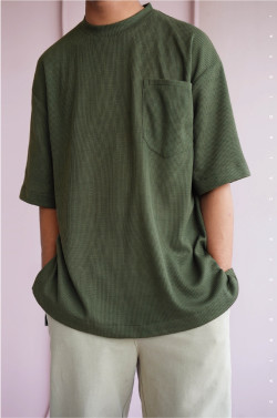 IRONLESS: Ruu Oversized T-Shirt In Deep Forest