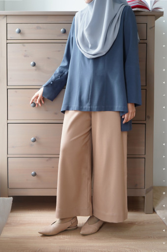Sada Blouse In Dark Denim