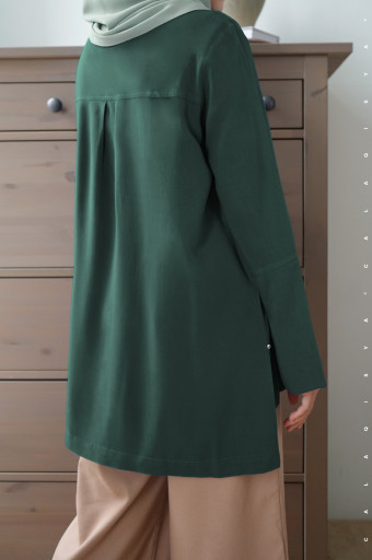 Sada Blouse In Dark Green