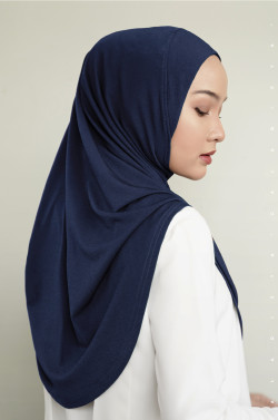 IRONLESS: Safa Instant In Navy Blue