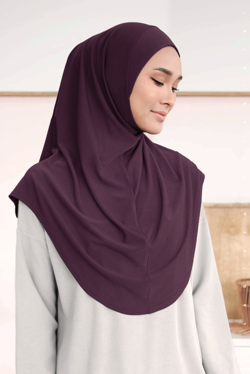 Ironless Safa Instant In Patent Purple