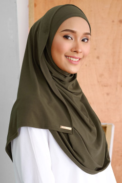 Salma Semi Instant Army Green
