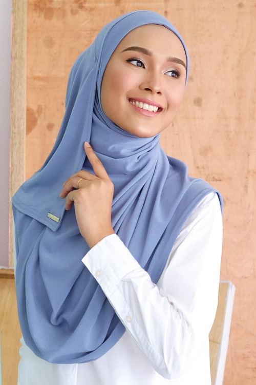 Salma Semi Instant Dusty Blue