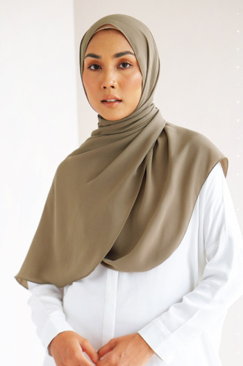 Burj Basic Shawl In Light Taupe