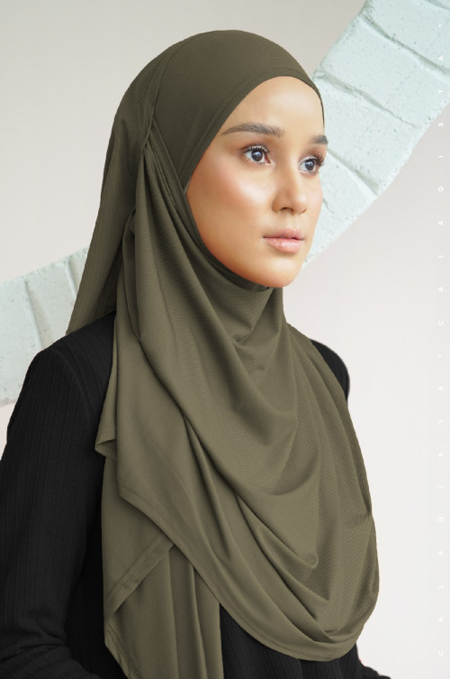 N-Free Scarf In Military Olive